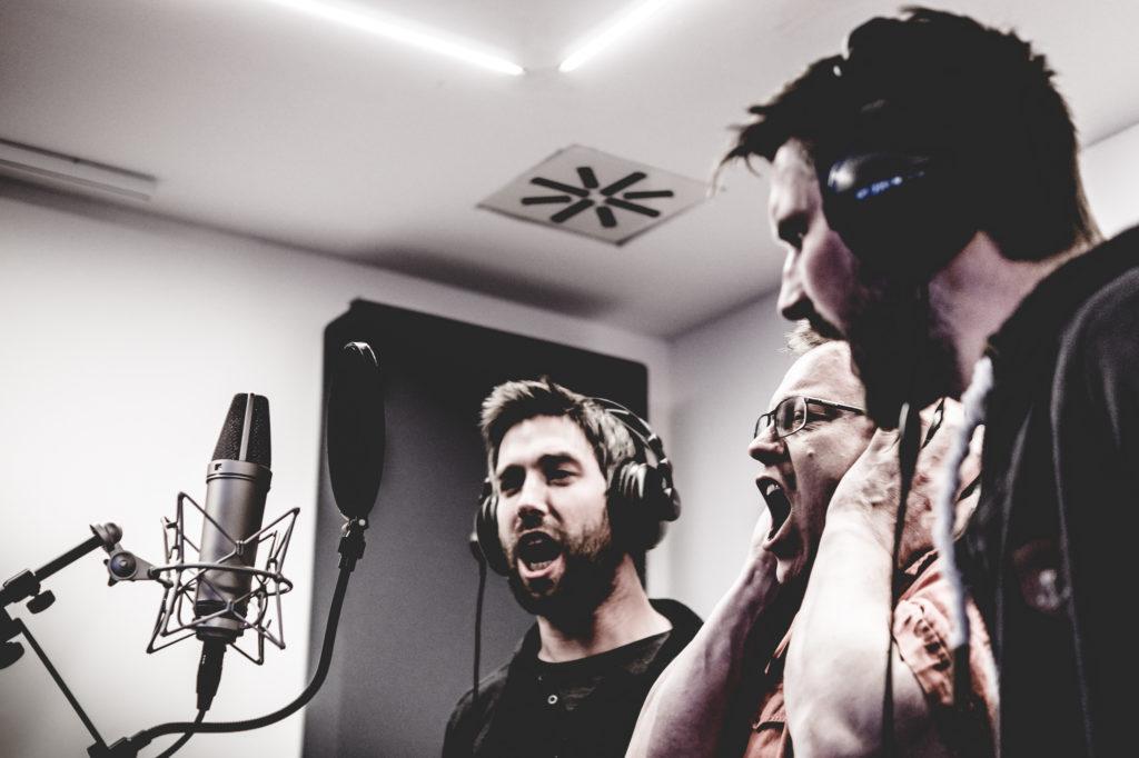 """Studioaufnahmen zu """"Shook Me"""""""